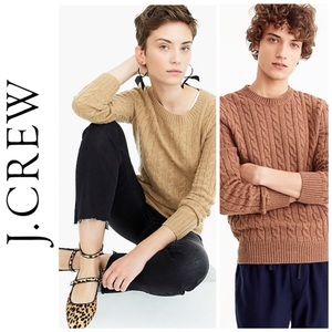 Off-White J. Crew Cable Knit Sweater